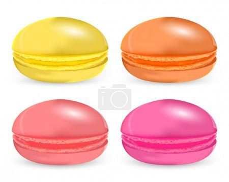 Vector set of colored macaroon.
