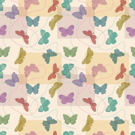 nahtloser Schmetterlingshintergrund - Vektorillustration