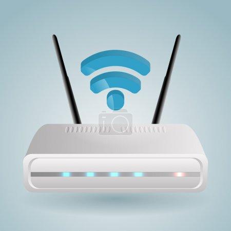 Wireless Router. Vector illustration