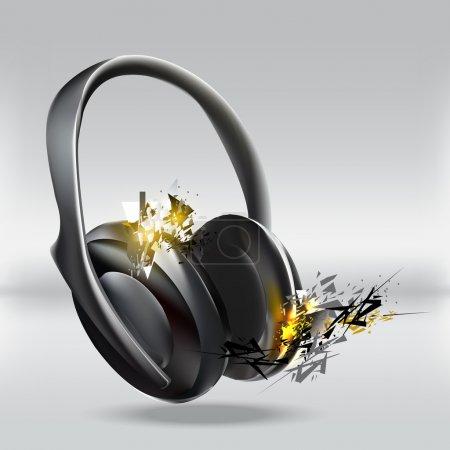 Vector illustration of abstract headphones.