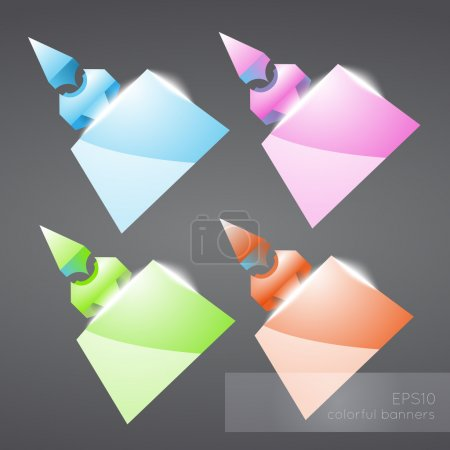 Illustration for Abstract colored banners. Vector illustration. - Royalty Free Image