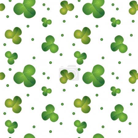 Modèle de trèfle sans couture vert - fond vectoriel pour la Saint-Patrick