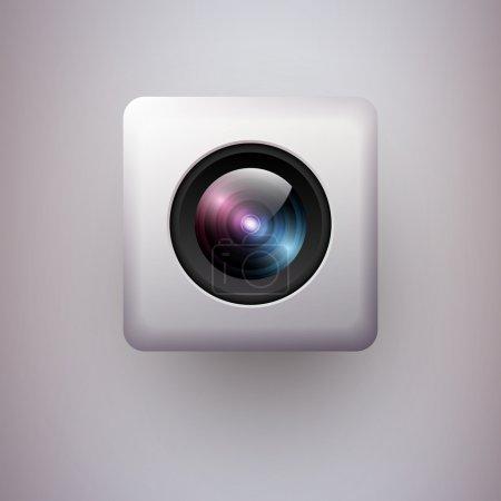 Web camera icon. Vector illustration.