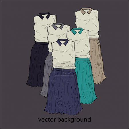 Illustration for Vector background with dresses. - Royalty Free Image