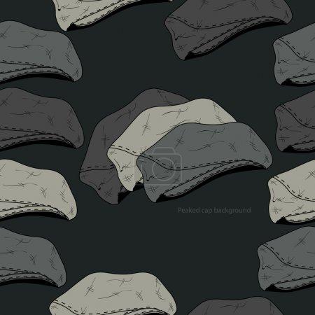 Photo pour Fond vectoriel avec chapeaux . - image libre de droit