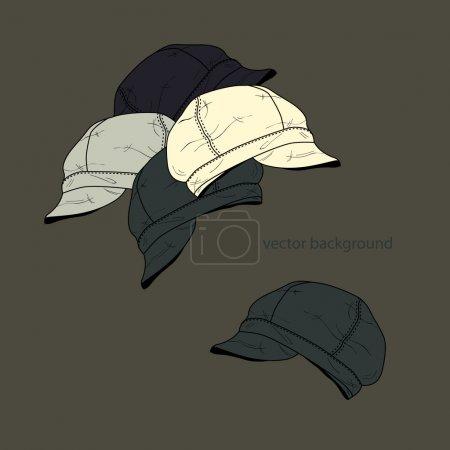 Illustration pour Fond vectoriel avec chapeaux . - image libre de droit