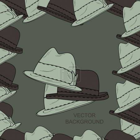 Vector background with hats.