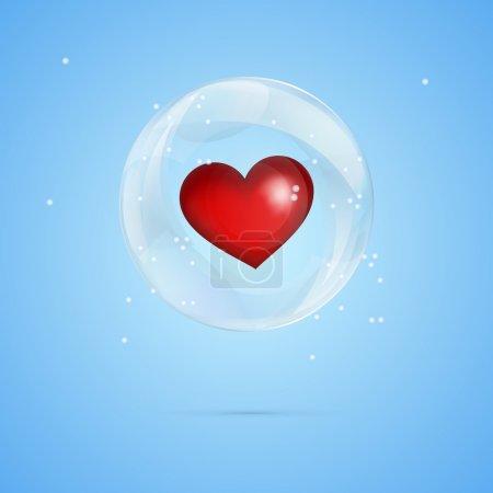 Illustration pour Illustration vectorielle d'un cœur en bulle . - image libre de droit