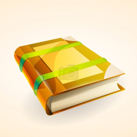 Illustration pour Illustration vectorielle d'un livre. - image libre de droit