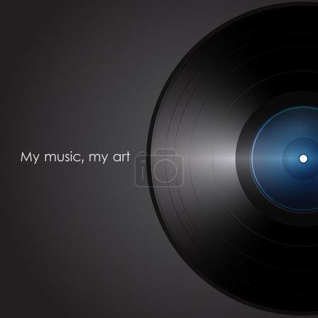 Illustration for Vinyl. my music my art. vector illustration. - Royalty Free Image