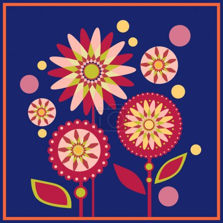 Photo for Floral vector pattern background - Royalty Free Image