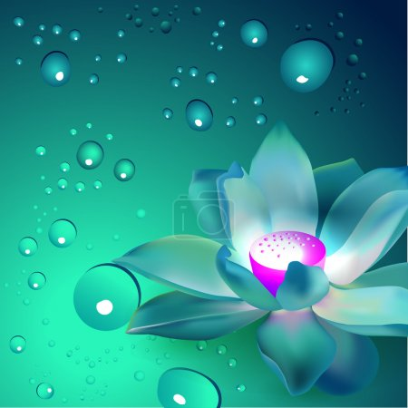 Vector flower with bubbles