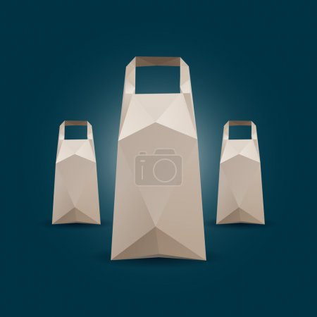 Illustration for Three Vector Shopping Bags - Royalty Free Image