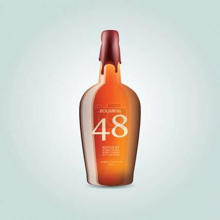 Whiskey bourbon bottle - vector illustration