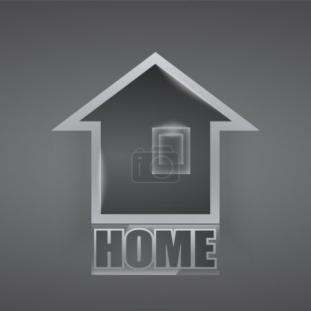 Vector home icon. Vector illustration.