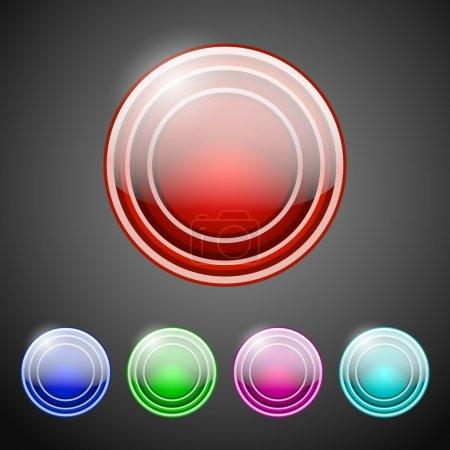 Illustration pour Collection de boutons ronds . - image libre de droit