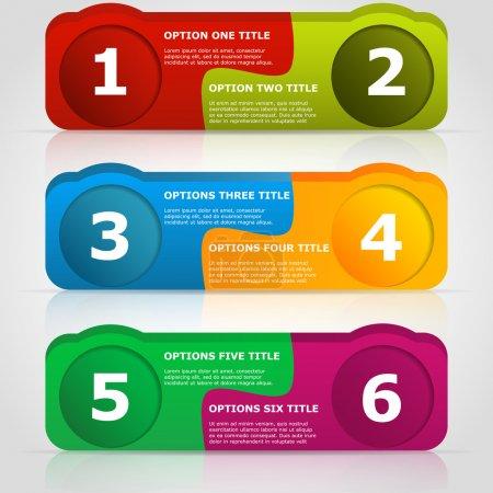 Web Design vecteur withe place pour votre texte