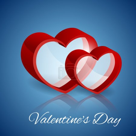 Photo for Vector background with glass hearts for Valentine's day. - Royalty Free Image