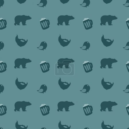 Photo for Bears and beer. Vector illustration - Royalty Free Image