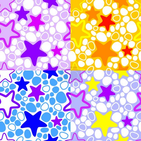 Vector colorful background with stars.