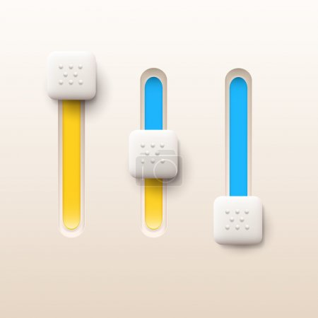 Vector illustration of sliders buttons.
