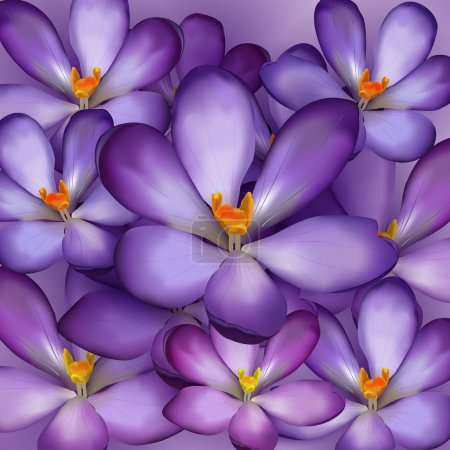Illustration pour Modèle sans couture avec des fleurs violettes - illustration vectorielle - image libre de droit