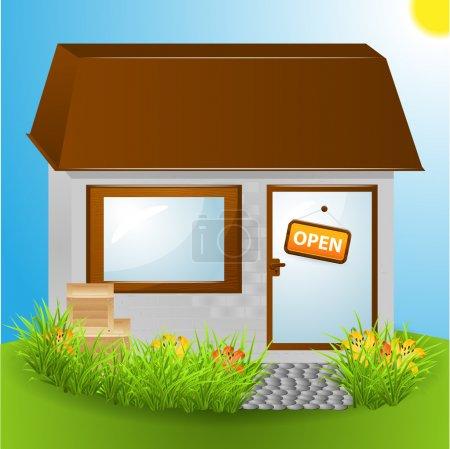 Open house - vector illustration