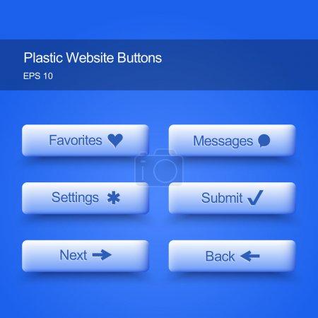 Illustration pour Boutons de site en plastique. Illustration vectorielle . - image libre de droit