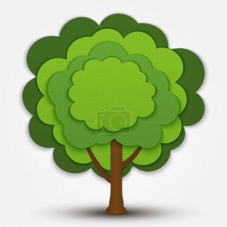 Photo for Nature vector green tree banner - Royalty Free Image