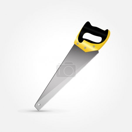 Hand saw isolated, vector
