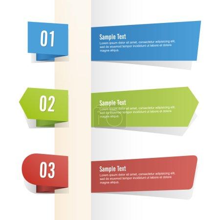 Illustration pour Ensemble de bannières vectorielles. - image libre de droit