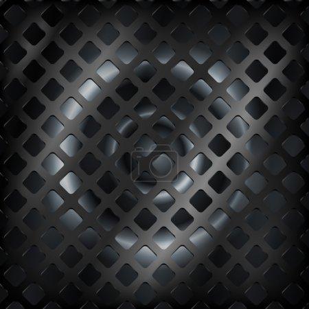 Illustration pour Fond vectoriel en acier noir . - image libre de droit
