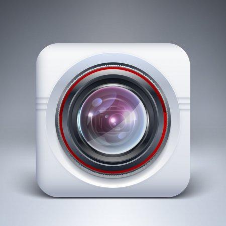Illustration pour Icône de caméra web. illustration vectorielle. - image libre de droit