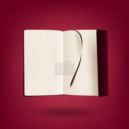 Open book - vector illustration