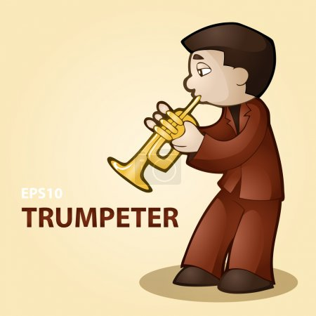 Illustration for Vector illustration of a trumpeter. - Royalty Free Image