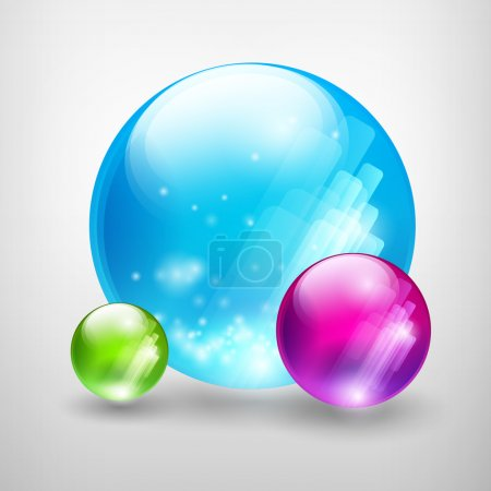Abstract colored bubbles. Vector illustration.