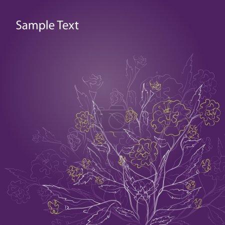 Photo pour Excellent fond floral violet - Illustration vectorielle - image libre de droit