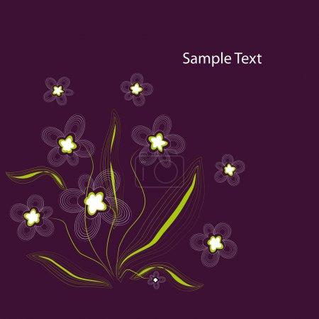 Illustration for Excellent Purple Floral Background - Vector illustration - Royalty Free Image