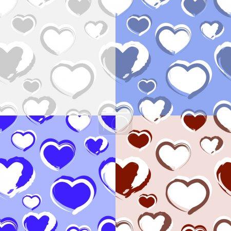 Illustration pour Fond vectoriel avec coeurs. - image libre de droit