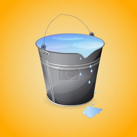 Illustration pour Un seau d'eau. Illustration vectorielle . - image libre de droit