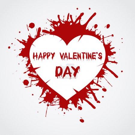 Valentinstag Hintergrund mit Herz.
