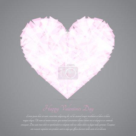 Illustration pour Un coeur brisé. Carte de vœux vectoriel pour la Saint Valentin . - image libre de droit
