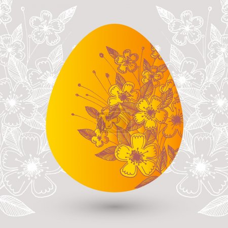 Photo for Vector illustration of a floral easter egg. - Royalty Free Image