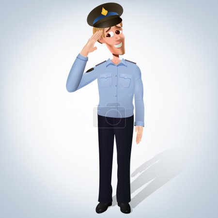 Policeman - vector illustration. Vector illustration.