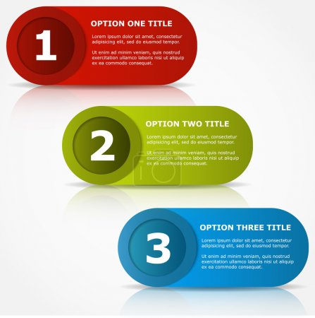 Illustration for One two three options banners. - Royalty Free Image