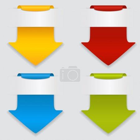 Photo pour Ensemble vectoriel de flèches colorées . - image libre de droit