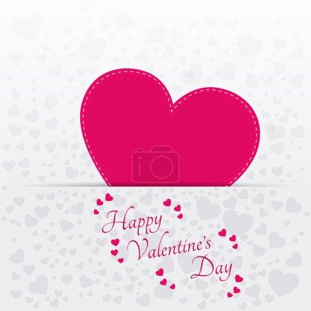 Vektor-Grußkarte zum Valentinstag mit rosa Herz.