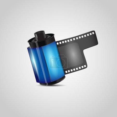 Vector negative photo film roll