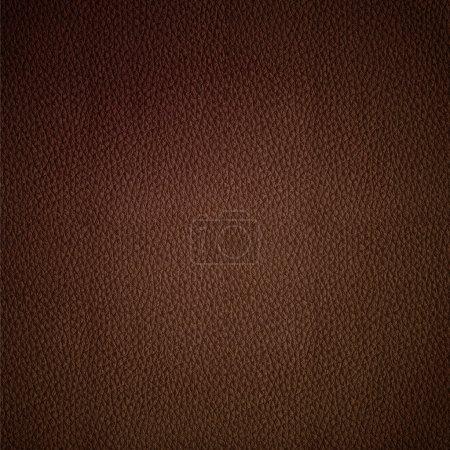 Photo pour Texture de cuir vectoriel sans couture motif de fond brun - image libre de droit