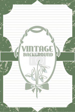 Illustration for Vector vintage background with flowers - Royalty Free Image